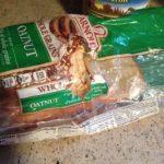 cat eats plastic to get bread