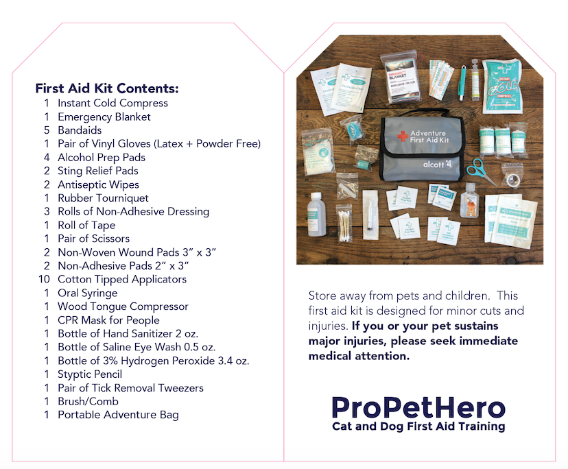 pet first aid kit contents